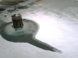 Chicago River w ice