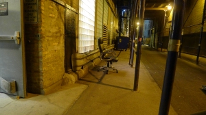 evening alley w chair 2