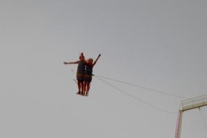 FB coney, two flying girls