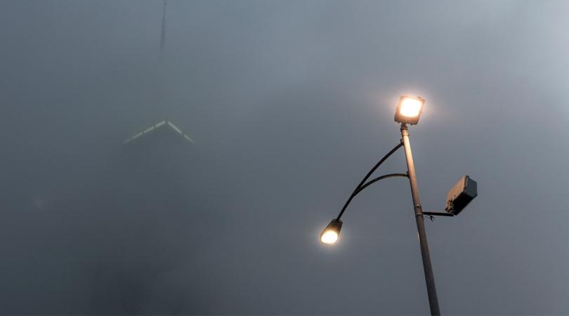 FB John Hancock building, fog