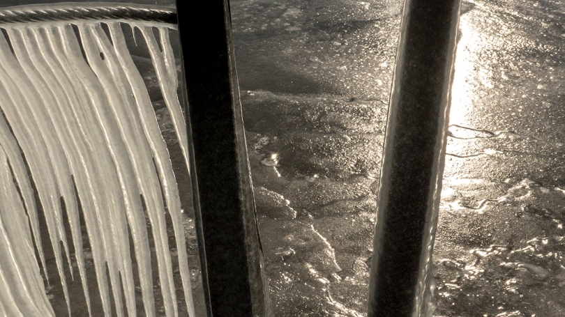 ice with light