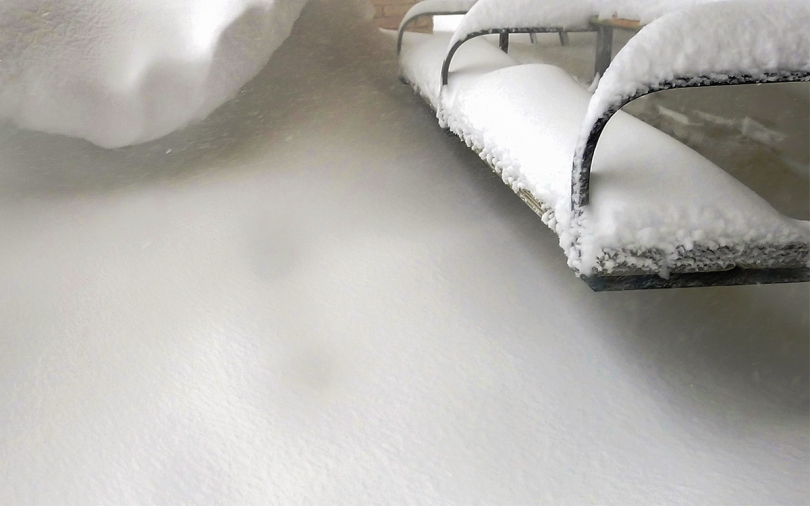 WP bench and snow drift