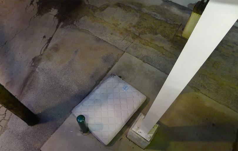 mattress, alley